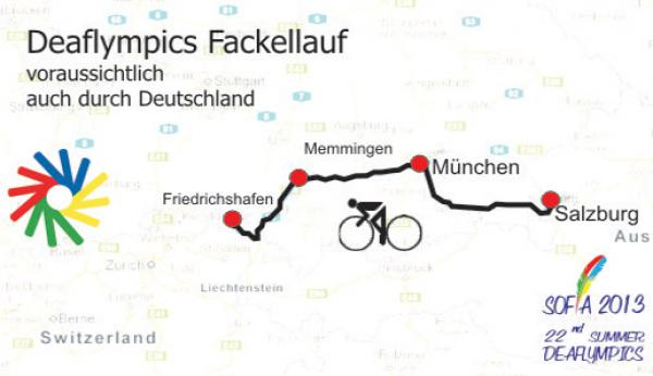 Deaflympics 2013: Deaflympics-Fackellauf durch Deutschland - Foto: (c) DGS