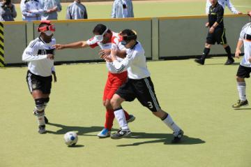 Blindenfußball: Deutschland schlägt Türkei 2:1 - Foto: (c) Reinhard Tank