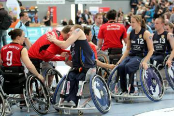 Rollstuhlbasketball: Erste Hauptrunde des DRS-Pokal in Heidelberg - Foto: (c) Andreas Joneck