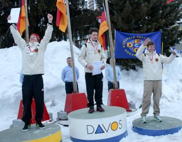 Gehörlose: 3-facher Triumph für deutsche Ski-Junioren - Foto: (c) Peter Fiebiger / DGS