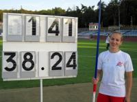 Blindensport: Weltrekord (inoffiziell) für Natallia Eder aus Österreich - Foto: (c) ÖBSV
