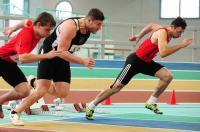 Gehörlose: Altmeister Matthias Fischer gewinnt 60 Meter Sprint - Foto: (c) DGS / Anton Schneid